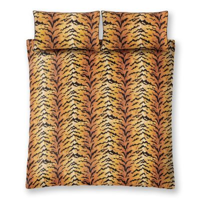 Paloma Home Tiger Gold King Size Duvet Cover and Pillowcase Set