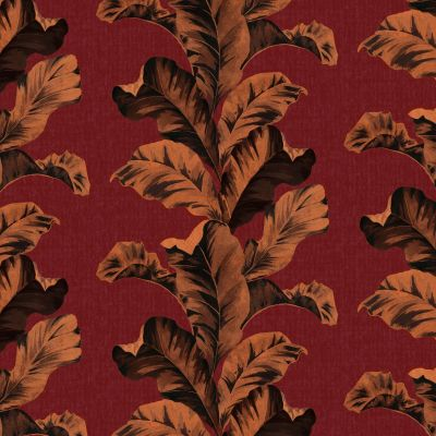 Paloma Home Oriental Leaves Wallpaper Red 921501