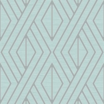 Geometric Wallpaper Grey and Silver Pear Tree UK30507