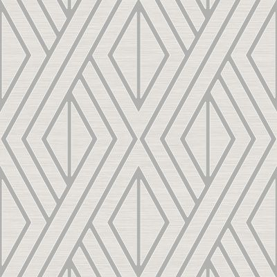 Geometric Wallpaper White and Gold Pear Tree UK30515