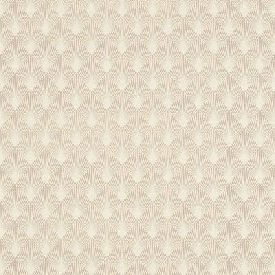 Modern Art Art Deco Diamond Fan Wallpaper Rose Gold / White Rasch 433616
