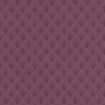 Modern Art Art Deco Diamond Fan Wallpaper Plum Rasch 433623