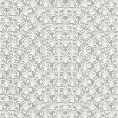 Modern Art Art Deco Diamond Fan Wallpaper Silver / White Rasch 433647