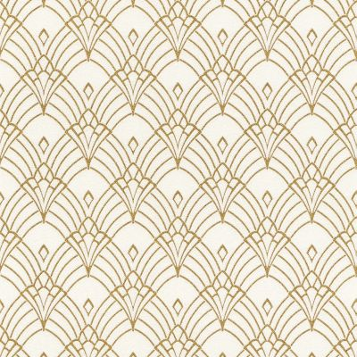 Modern Art Art Deco Astoria Wallpaper White / Gold Rasch 433913