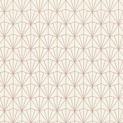 Modern Art Art Deco Triangles Wallpaper Cream / Rose Gold Rasch 434040