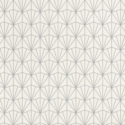 Modern Art Art Deco Triangles Wallpaper Blue / Silver Rasch 434057