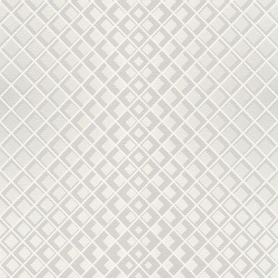 Modern Art Art Deco Diamond Illusion Wallpaper Black / Silver Rasch 610918