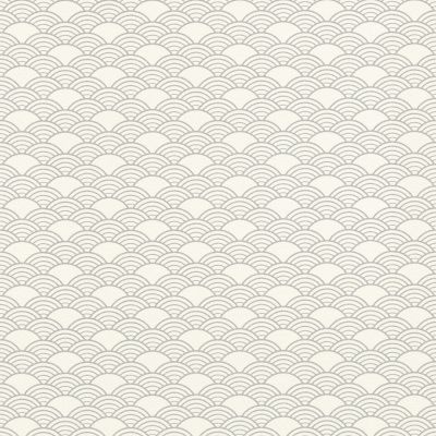 Modern Art Art Deco Waves Wallpaper Teal / Silver Rasch 621020