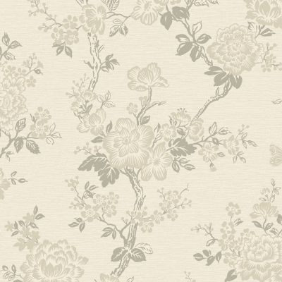 Paloma Glitter Blossom Tree Wallpaper Cream / Gold Rasch 957617