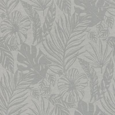 Kiss Foil Palm Leaf Wallpaper Silver / Grey Arthouse 903200