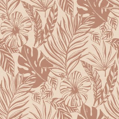 Portfolio Tropical Leaf Wallpaper Grey / Silver Rasch 215502