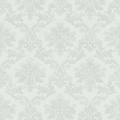 Lazy Sunday Damask Design Wallpaper Light Blue Rasch 401448