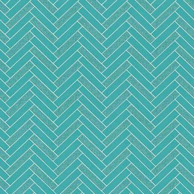Chevron Tile Wallpaper Teal Rasch 888218