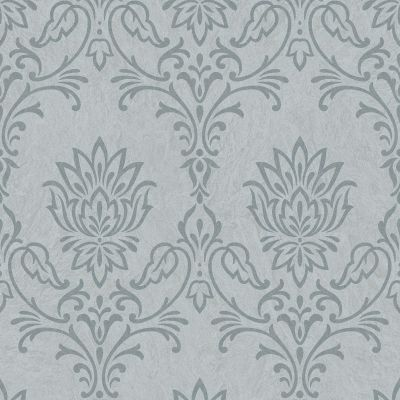 Floral Damask Embossed Wallpaper Grey and Silver Rasch Ravello 304329