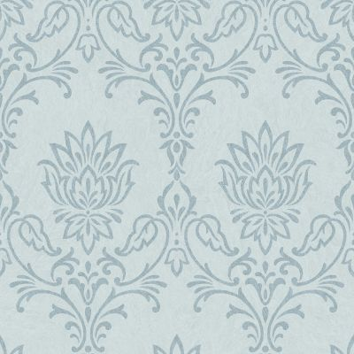 Ravello Floral Damask Embossed Wallpaper Pale Teal Rasch 304336