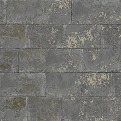 Metallic Brick Wallpaper Charcoal Rasch 248685