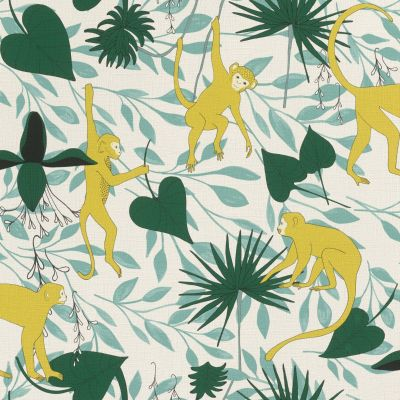 Club Botanique Monkey Wallpaper Yellow Rasch 540130