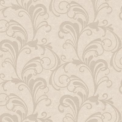 Valentina Scroll Damask Wallpaper Natural Rasch 301816