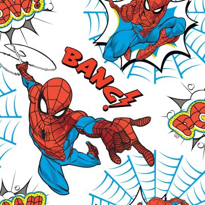 Spiderman Pow Wallpaper White / Multi Graham & Brown 108553