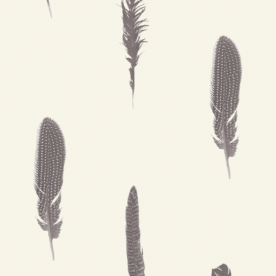 Feather Wallpaper Cream Stil Haven FEA-WP-CRE 2 week print to order