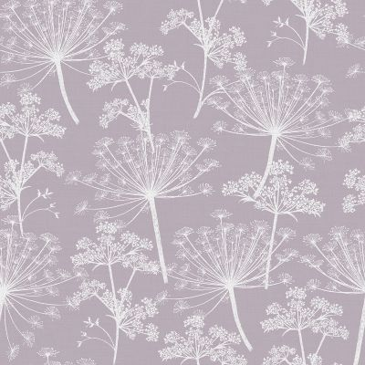 Cow Parsley Wallpaper Dusky Lilac Stil Haven COW-WP-DUS 2 week print to order