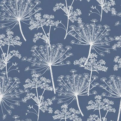 Cow Parsley Wallpaper Nordic Blue Stil Haven COW-WP-NOR 2 week print to order