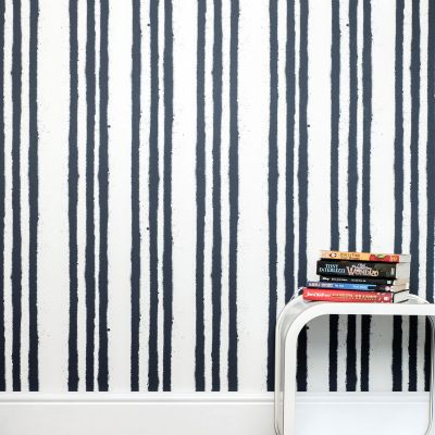 Stripes Wallpaper White and  Blue Paperboy STRIPES/WP/BLUE