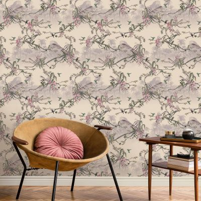 Ted's Enchanted Collection Hibiscus Wallpaper-Blush, Ted Baker 12474