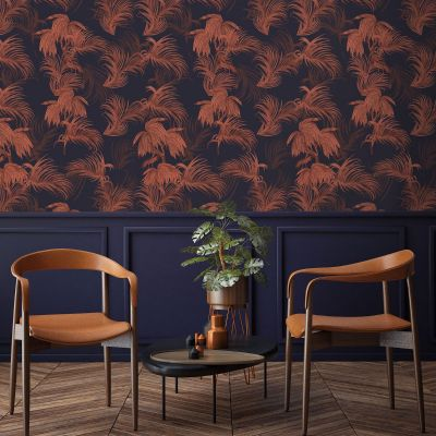 Ted's Enchanted Collection Horizon Wallpaper-Navy, Ted Baker 12496