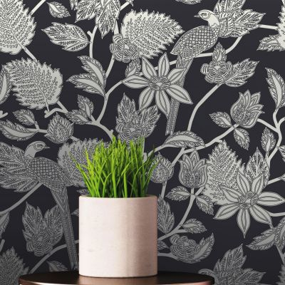 Ted's Enchanted Collection Benga Wallpaper-Black and White, Ted Baker 12512