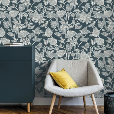 Ted's Enchanted Collection Benga Wallpaper Teal, Ted Baker 12513