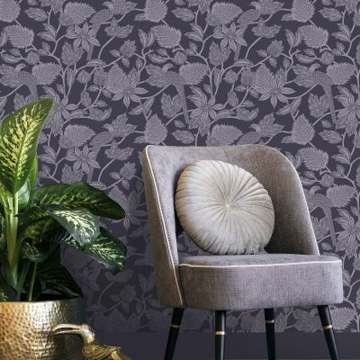 Ted's Enchanted Collection Benga Wallpaper Purple, Ted Baker 12515
