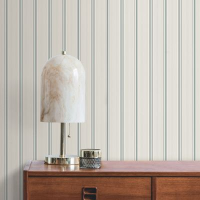 Ted's Enchanted Collection Suitcase Stripe Wallpaper Teal, Ted Baker 12491