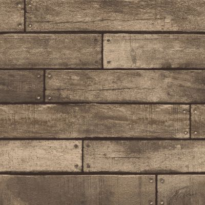 Brown Wooden Plank Effect Wallpaper - Fine Decor