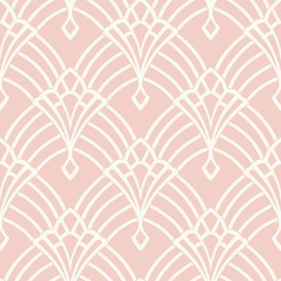 Waldorf Deco Wallpaper Pink / White World of Wallpaper 274416