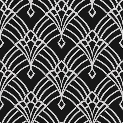 Waldorf Deco Wallpaper Black / Silver World of Wallpaper 274430