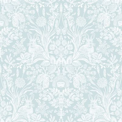 Harlen Woodland Damask Wallpaper Duck Egg World of Wallpaper 50341