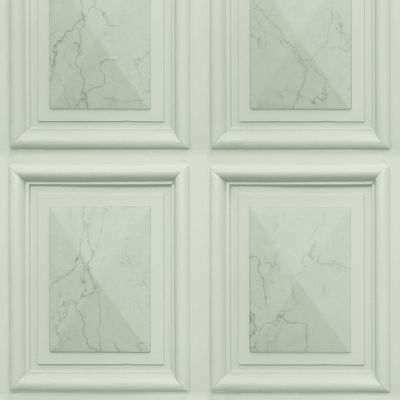 Marble Wood Panel Effect Wallpaper Sage Green World of Wallpaper AG500-10