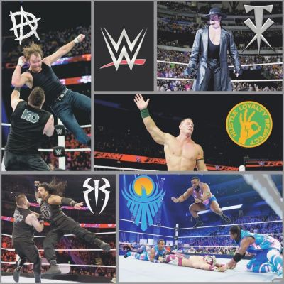WWE Wrestling Wallpaper Black WP4-WWE-BLK-12