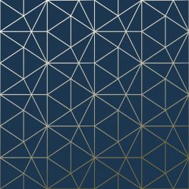 navy and gold triangle geometric wallpaper prism effect
