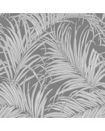 Kiss Foil Palm Leaf Wallpaper Gunmetal / Grey Arthouse 903305 SAMPLE