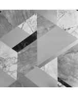 Marblesque Geometric Marble Wallpaper Grey and Silver - Fine Decor FD42302