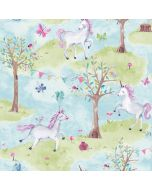 Little Ones Eco Unicorn Wallpaper Lilac GranDeco LO2101