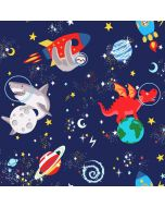 Over the Rainbow Space Animals Glow in the Dark Wallpaper Navy Holden 90922