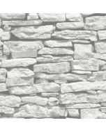 Moroccan Wall White Slate Stone Wallpaper - Arthouse 623009
