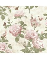 Portfolio Vintage Rose Wallpaper Pink / Natural Rasch 215007