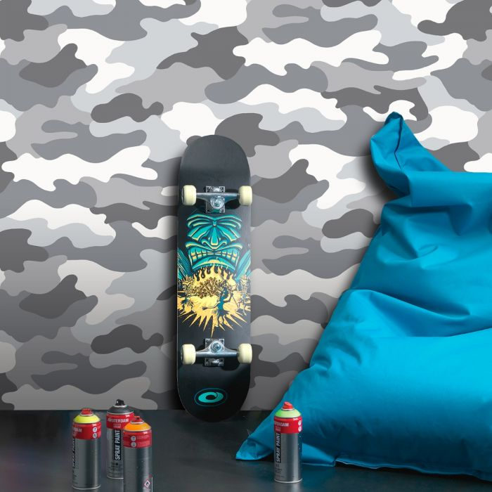 Grey Camouflage Army Wallpaper - World of Wallpaper WOW010