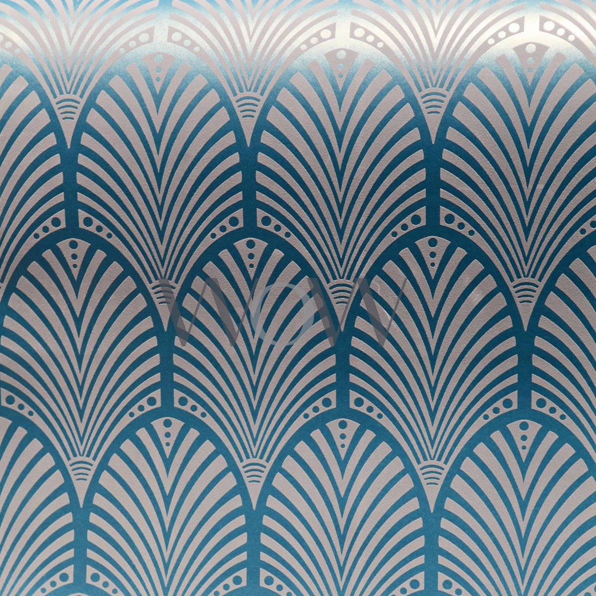 Art Deco Wallpaper Teal