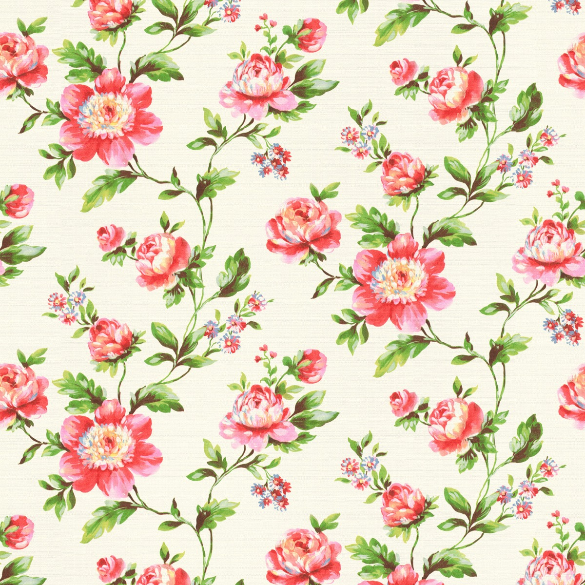 Vintage Chic Floral Butterfly Wallpaper Flowers Pink Red Blue Paste The Wall