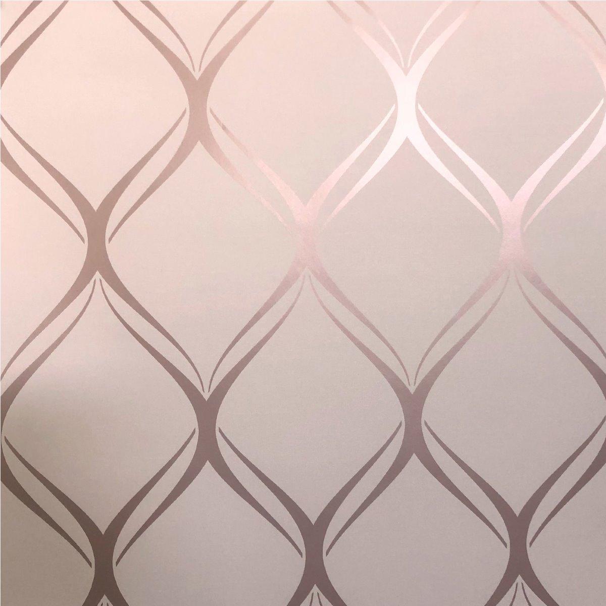 Clifton Wave Geometric Wallpaper Pink